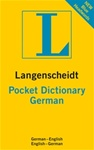 Pocket Dictionary German- German/English - English/German