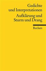 Gedichte Und Interpretationen 2 Aufklärung Und Sturm Und Drang